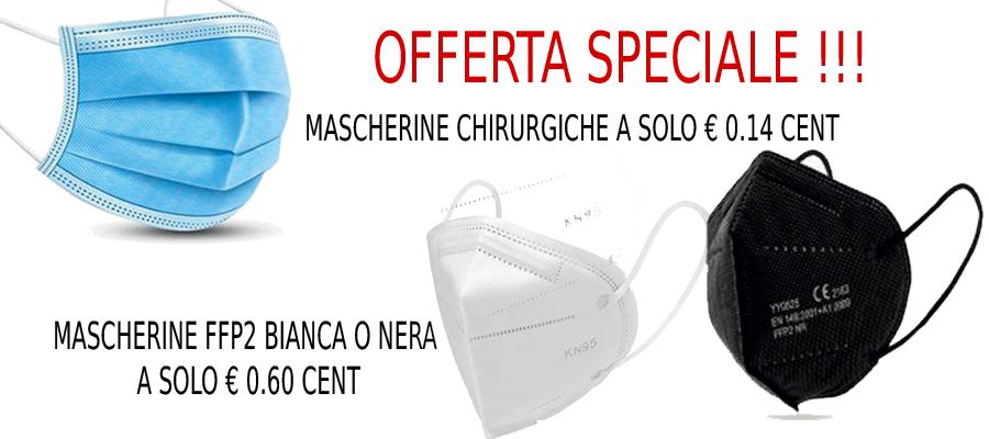 MASCHERINE CHIRURGICHE A € 0.14 CENT